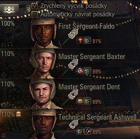 Posádka se 100% hlavní kvalifikace a2 skilly