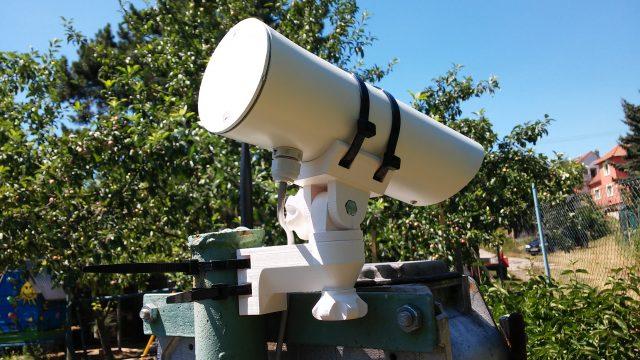 IP kamera na testovacím stanovišti :)