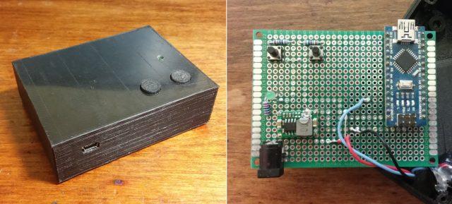 Krabička řídící elektroniky, osazená deska