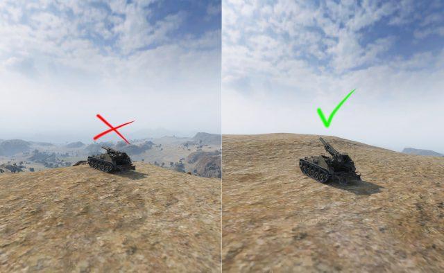 Začátečnická chyba hráčů artyn - nemusím stát na horizontu abych mohl střílet